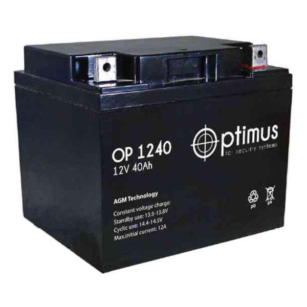 Optimus OP 1240 (12V / 40.0Ah), Аккумуляторная батарея