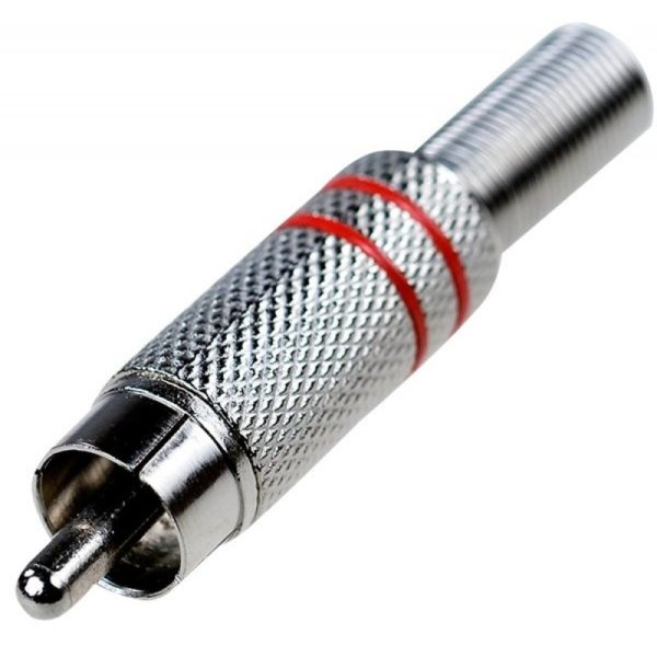 Разъем для межблочного соединения вилка RCA тюльпан (штекер)