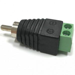 Разъем RCA (Папа) Rexant 14-0413 штекер RCA с клеммной колодкой (1 штука)