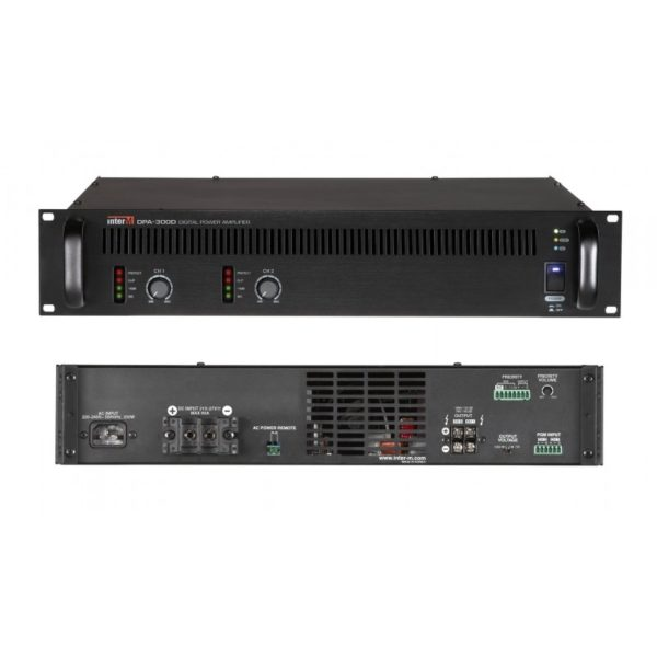 Усилитель мощности цифровой, 2х300 Вт DPA-300D