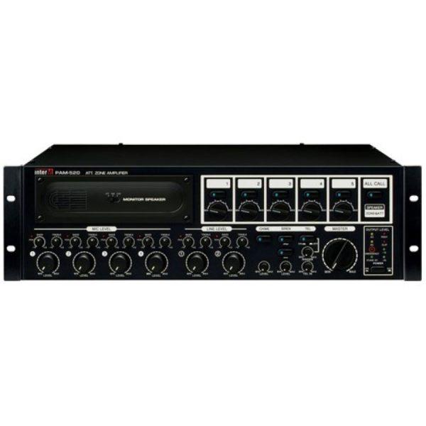 Усилитель трансляционный зональный с голосовым модулем PAM-520