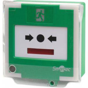 Устройство разблокировки двери с восстанавливаемой кнопкой активации Smartec ST-ER126DMLS-GN