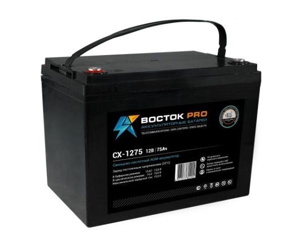 Восток Pro СК-1275 (12V / 75Ah), Аккумуляторная батарея