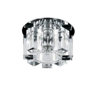 004550-G5.3 Светильник PILONE CYL CR G5.3 ХРОМ/ПРОЗРАЧНЫЙ (в комплекте), шт