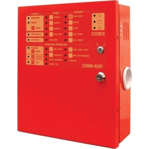 Блок приемно-контрольный и управления автоматическими средствами пожаротушения С2000-АСПТ прибор управления пожаротушением