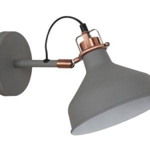 Camelion WML-425 С73 серый + медь (Светильник настенный Amsterdam,1х E27, 40Вт, 230В, металл)
