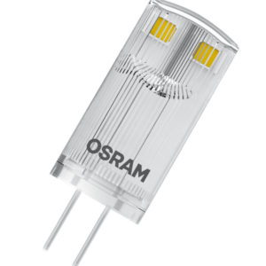 Cветодиодная лампа OSRAM PARATHOM PIN 0,9W (замена 10 Вт), теплый белый свет, G4, 12в