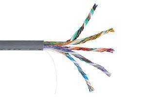 ITK Кабель связи витая пара F/UTP, кат.5E 25х2х24AWG solid, PVC, 500м, серый