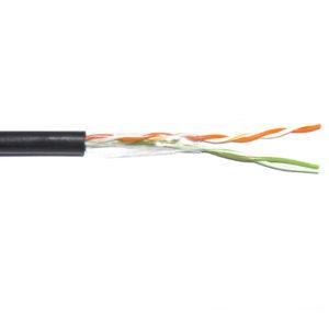 ITK Кабель связи витая пара F/UTP, кат.5E 2х2х24AWG LDPE, черный
