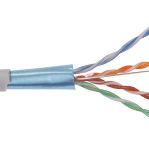 ITK Кабель связи витая пара F/UTP, кат.5E 4х2х24AWG LDPE, черный