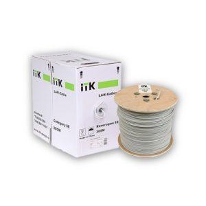 ITK Кабель связи витая пара F/UTP, кат.5E 4х2х24AWG, LDPE, с металл. тросом 1,2мм, черный