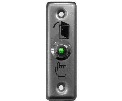 Кнопка металлическая с подсветкой, врезная, НР контакты, размер: 90х28 мм Smartec ST-EX010L кнопка