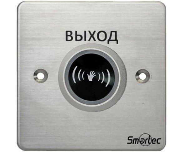 Кнопка металлическая, врезная, ИК-бесконтактная, НЗ/НР контакты, размер: 88х88 мм Smartec ST-EX132IR кнопка