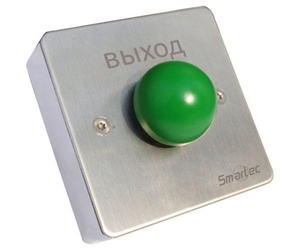 Кнопка металлическая, врезная, кнопка грибок, НЗ/НР контакты, размер: 88х88 мм Smartec ST-EX131 кнопка
