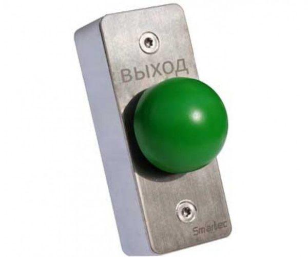 Кнопка металлическая, врезная, кнопка грибок, НЗ/НР Smartec ST-EX031 кнопка