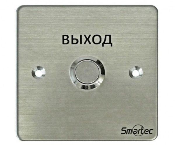 Кнопка металлическая, врезная, НЗ/НР контакты, размер: 88х88 мм Smartec ST-EX130 кнопка