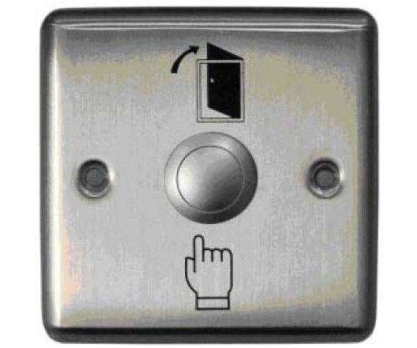 Кнопка металлическая, врезная, НЗ/НР контакты, размер: 90х90 мм Smartec ST-EX110 кнопка