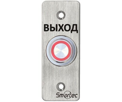 Кнопка металлическая, врезная, пьезоэлектрическая, подсветка, IP68, НЗ/НР Smartec ST-EX033L кнопка