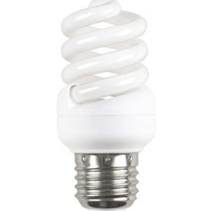 """Лампа люминесцентная энергосберегающая Е14 11Вт """"миниспираль"""" холод-белый ИЭК"""