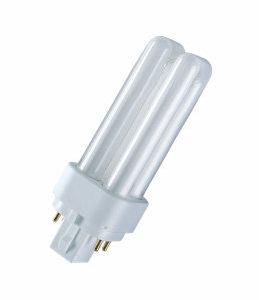 """Лампа люминесцентная КОМПАКТ. 4-штыревая G24q3 """"2U"""" 26Вт нейтральной-белый OSRAM"""