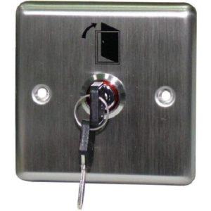 Переключатель с ключом Keyswitch, врезной, 2 группы контактов, низкий уровень секретности Smartec ST-ES110 переключатель с ключом