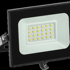 Прожектор (LED) 20Вт 1800лм 6500К IP65 черный IEK