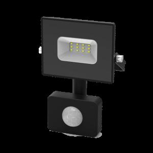 Прожектор с датч. движ. (LED) 10Вт 700лм 6500К IP65 черн. Gauss Elementary