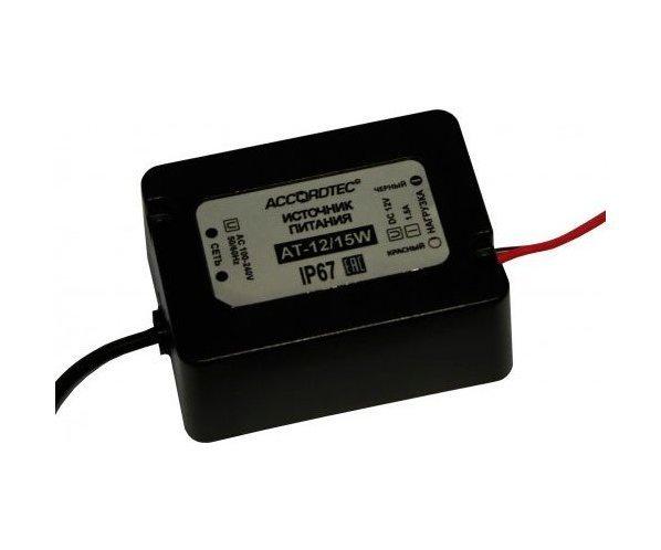 AccordTec АТ-12/15W блок питания 12 В, выходной ток 1.5А навесной