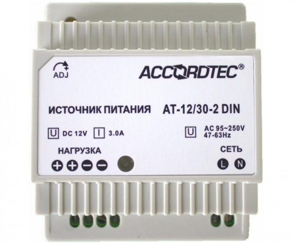 AccordTec АТ-12/30-2 DIN блок питания 12 В, выходной ток 3А на DIN-рейку