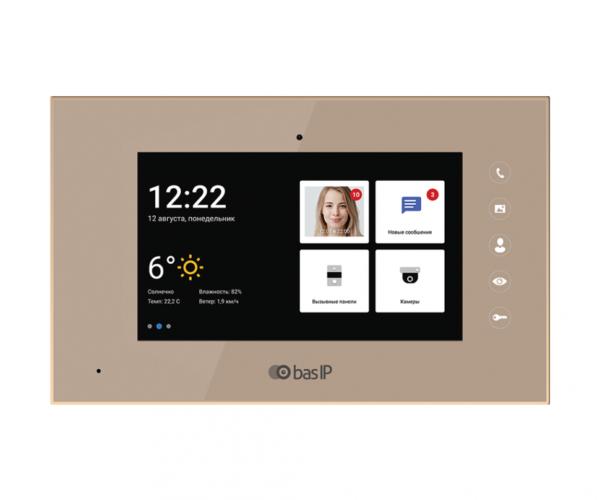 BAS-IP AQ-07L GOLD цветной IP видеодомофон