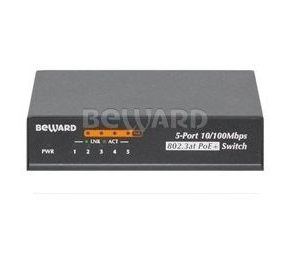 Beward ST-5HP4 5 портовый коммутатор c PoE