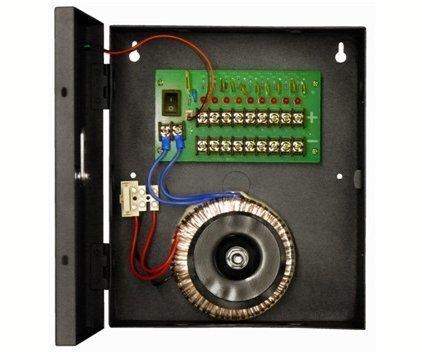 Блок питания 24VAC/5А Независимые выходы (9) - до 11А на выход, защита от КЗ и перегрузки Smartec ST-PS205-9 блок питания 24 В, выходной ток 5А навесной