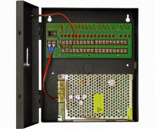 Блок питания стабилизированный 12VDC/10А Регулировка выходного напряжения 11-137VDC Независимые выходы (18) Smartec ST-PS110-18 блок питания 12 В, выходной ток 10А навесной