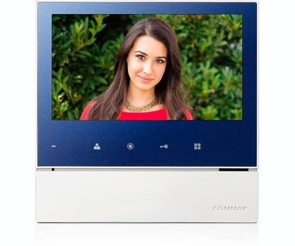 "Commax CDV-70H2 синий 7"" цветной CVBS видеодомофон"