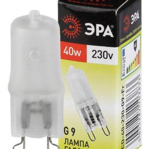 """Лампа """"капсула"""" G9 галоген матов. 40Вт 220В ЭРА"""
