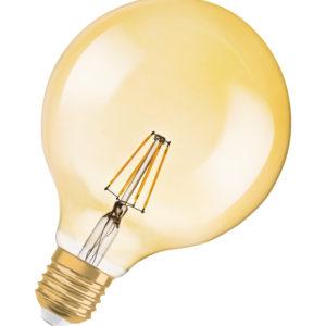 Лампа светодиодная OSRAM Vintage 1906 LED,диммируемая, CL GLOBE125,филаментная,6,5W(замена 55Вт), ди
