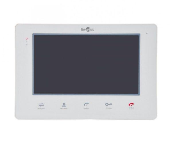 """Монитор видеодомофона 7"""", поддержка 2-х панелей вызова, поддержка 3 доп мониторов Smartec ST-MS207M-WT 7"""" цветной CVBS видеодомофон"""