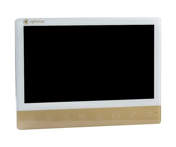 "Optimus VMH-10 белый/золото 10"" цветной AHD, CVBS, CVI, TVI видеодомофон"