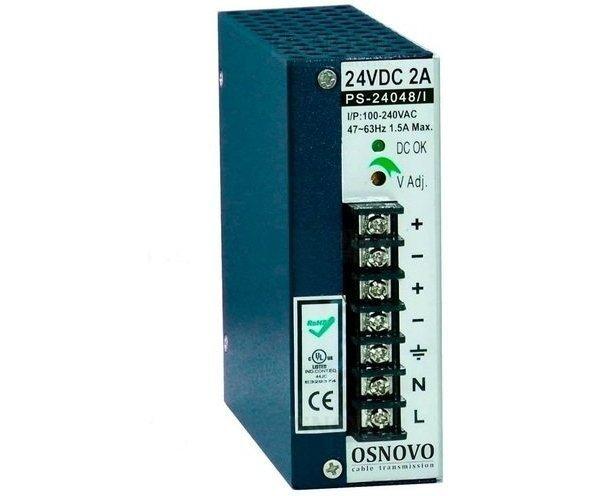 OSNOVO PS-24048/I блок питания 24 В, выходной ток 2А на DIN-рейку