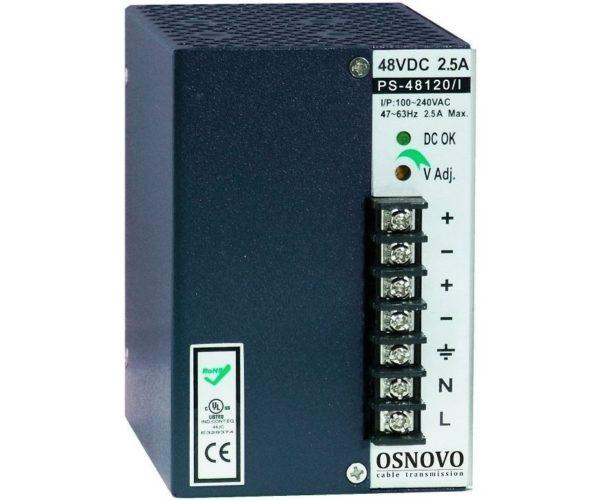 OSNOVO PS-48120/I блок питания 48 В, выходной ток 2.5А на DIN-рейку