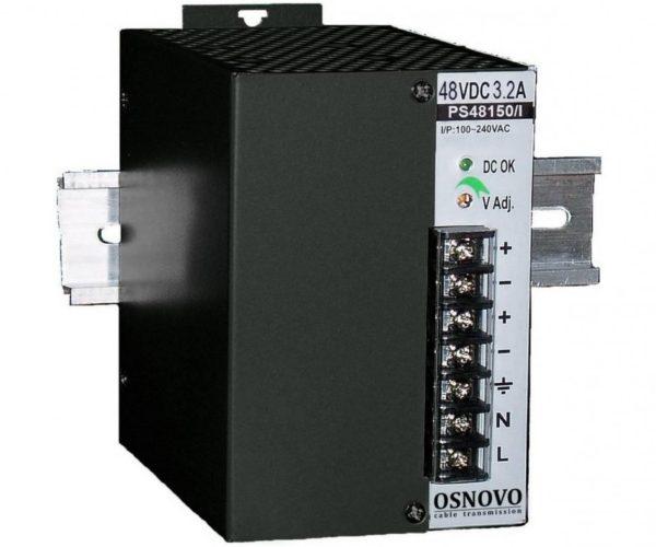 OSNOVO PS-48150/I блок питания 48 В, выходной ток 3.2А на DIN-рейку