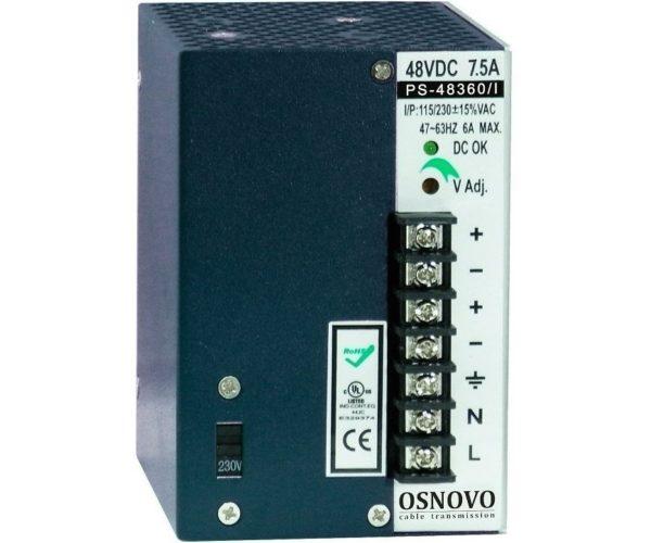 OSNOVO PS-48360/I блок питания 48 В, выходной ток 7.5А на DIN-рейку