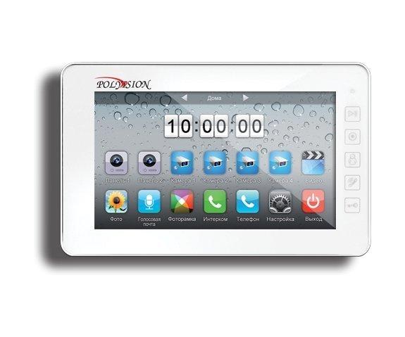 "Polyvision PVD-7L v.7.1 white 7"" цветной CVBS видеодомофон"