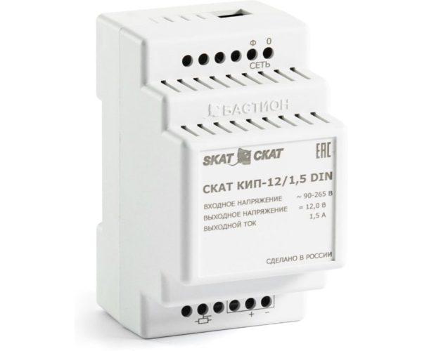 СКАТ КИП-12/1,5 DIN блок питания 12 В, выходной ток 1.5А на DIN-рейку