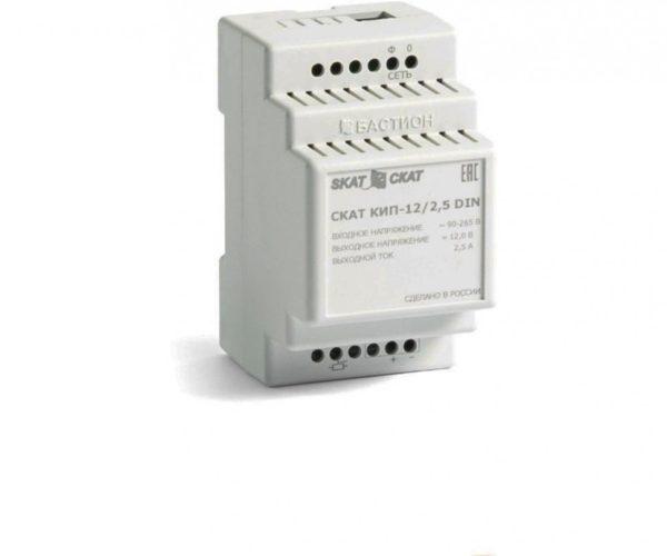СКАТ КИП-12/2,5 DIN блок питания 12 В, выходной ток 2.5А на DIN-рейку
