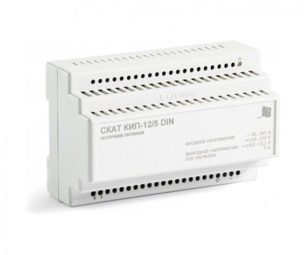 СКАТ КИП-12/5 DIN блок питания 12 В, выходной ток 5А на DIN-рейку
