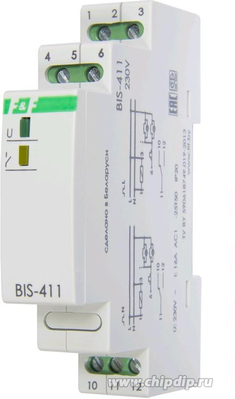 BIS-411, Реле импульсное 16А 230VAC