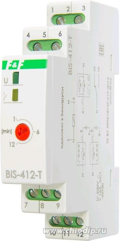 BIS-412-Т, Реле импульсное 16А 230VAC для группового режима работы с задержкой отключения