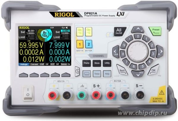 DP821A, Источник питания программируемый 0-8В-10А/0-60В-1А (Госреестр РФ)
