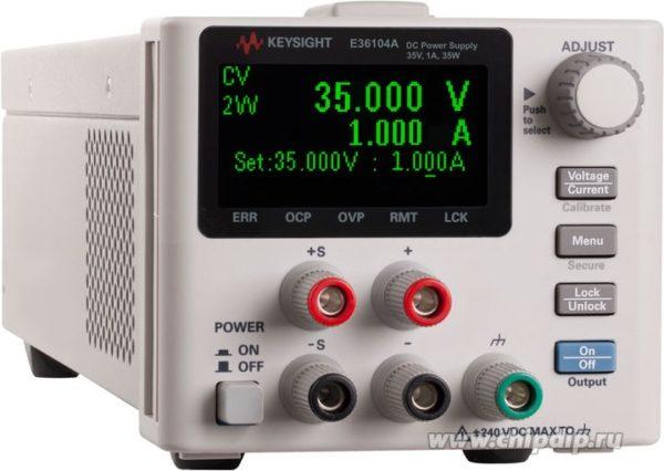 E36106A, Источник питания постоянного тока 40 Вт, 100 В, 0.4 А